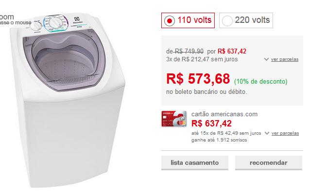 http://www.americanas.com.br/produto/113999412/lavadora-de-roupas-electrolux-6kg-ltd06-turbo-economia-branco?franq=AFL-03-117316&opn=YYNKZU