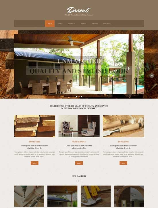 Furniture And Interior Design Websites ~ Interior design furniture website templates