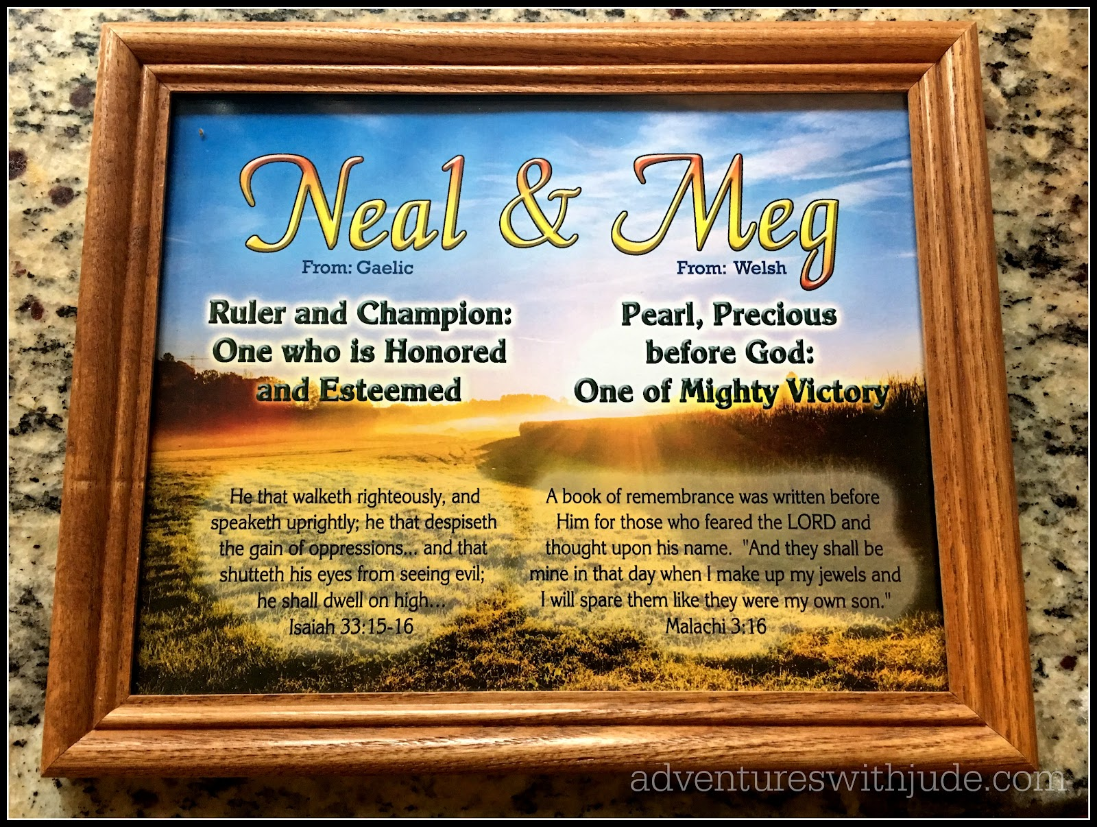 Plaques with name meanings - I Love Our Plaque There Are Over 100 Different Combinations Of Designs To Choose From With Eleven Picture Postcard Backgrounds From Mountains To River