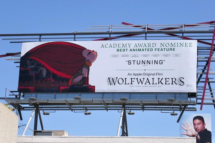 Wolfwalkers Academy Award billboard