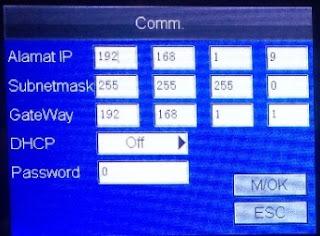 Cara Setting IP Fingerprint