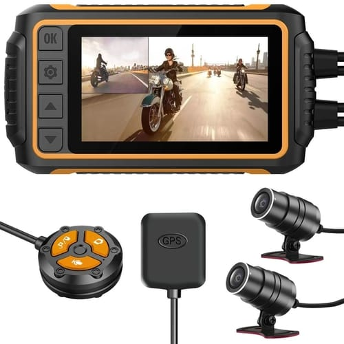 Review ZOMFOM Motorcycle Waterproof Dash Cam Camera