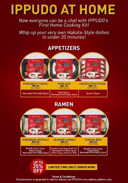 Ippudo Malaysia Frozen Home Cooking Kit Menu