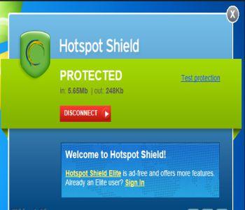 Hotspot Shield 6.5.4 Screenshot 1