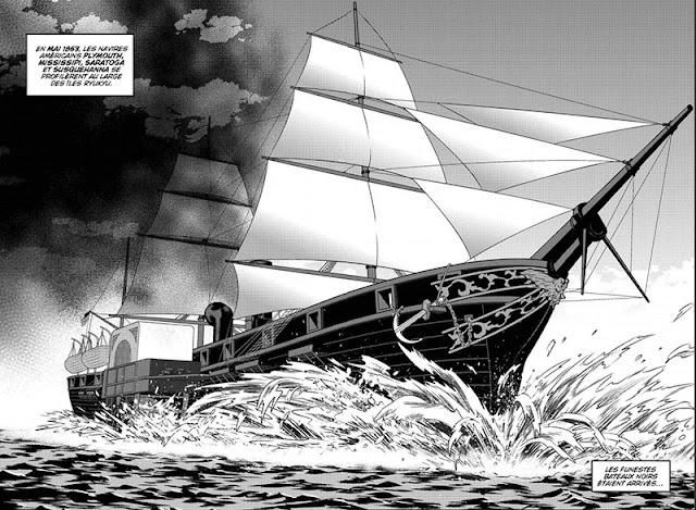 Arrivée des funestes vaisseaux sur les côtes japonaises en mai 1853
