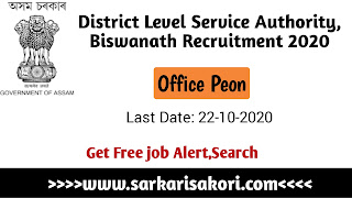 District Legal Service Authority, Biswanath Recruitment