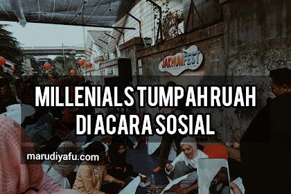 Millenials Tumpah Ruah Di Acara Sosial