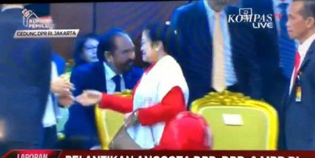 Tak Salaman dengan Paloh-AHY di Pelantikan Ketua DPR, Hubungan Megawati Retak?