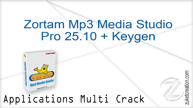 Zortam Mp3 Media Studio Pro 25.10 + Keygen    |   24 MB