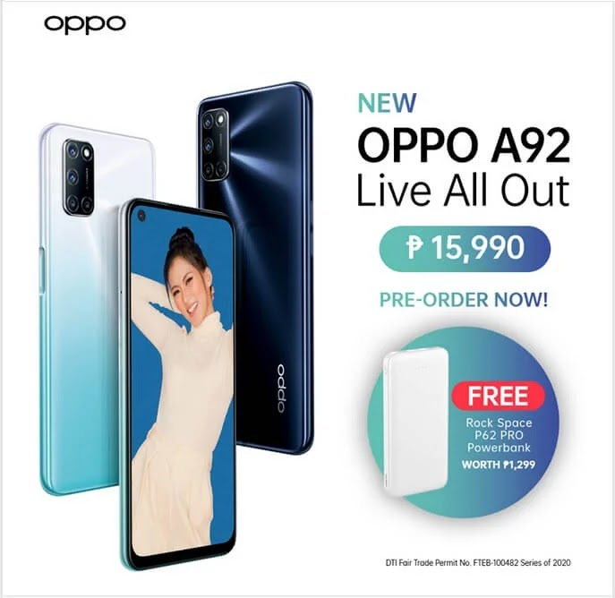 OPPO A92 with 48MP Quad Camera and 5,000mAh Battery Now Available for Php15,990