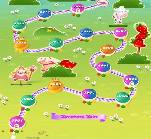 Candy Crush Saga level 3801-3815