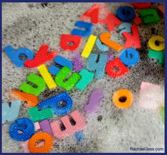 Learning through play with H&A foam letters