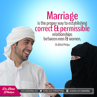 Marriage is the proper way to establishing correct and permissible relationships