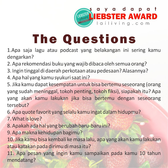 liebster award questions indonesia