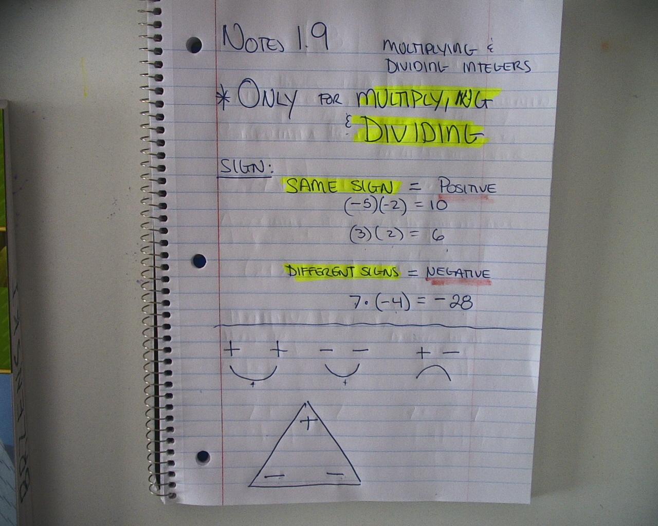 Mr Brzenski S Math Class Notes 1 9 Prealgebra Notes 2 1