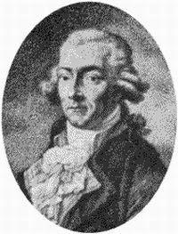 Portrait de Francesco Benucci chanteur d'opéra créateur du Figaro de Mozart