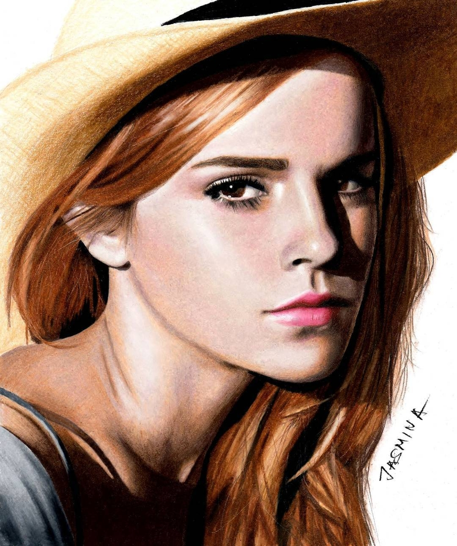 16-Emma-Watson-Jasmina-Susak-Superheroes-and-Villains-in-2d-and-3d-Drawings-www-designstack-co