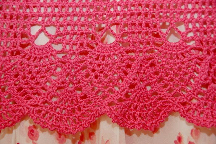 crochet bolero, edgings