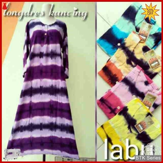 BTK068 Baju Longdres Kancing Labu Daster Baju Murah BMGShop