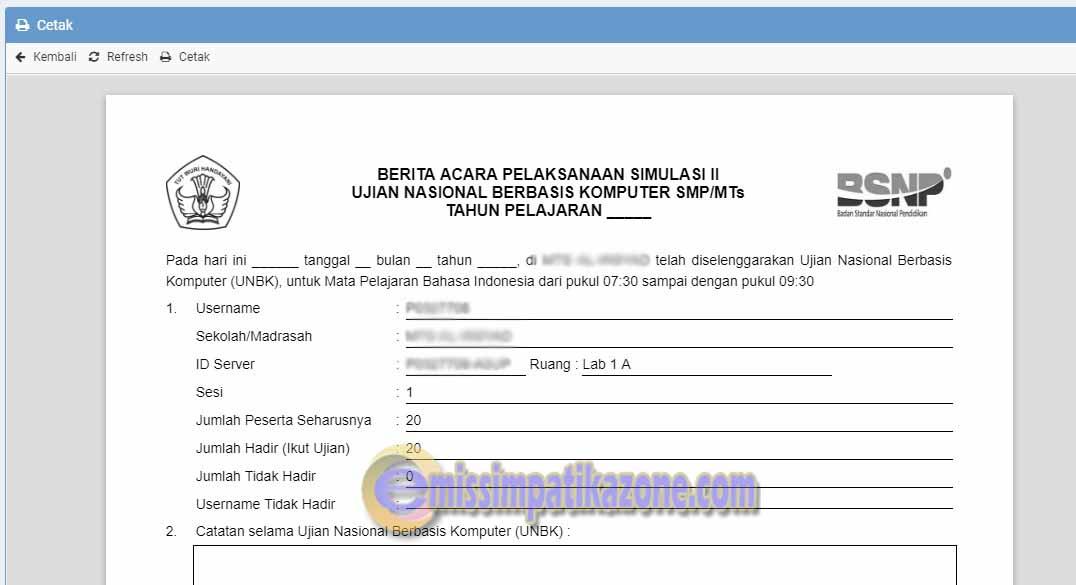 Cara Cetak Dan Upload Info Program Unbk Di Web Ubk Kemdikbud Go Id