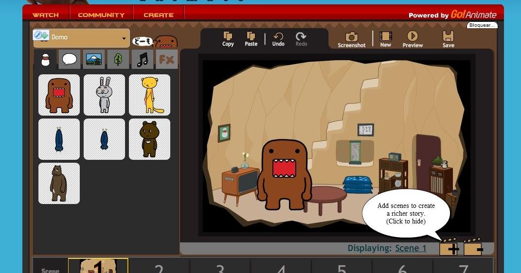Domo animate - Herramienta para crear historias animadas