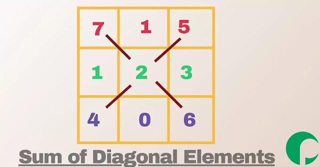 sum of diagonal element of a matrix