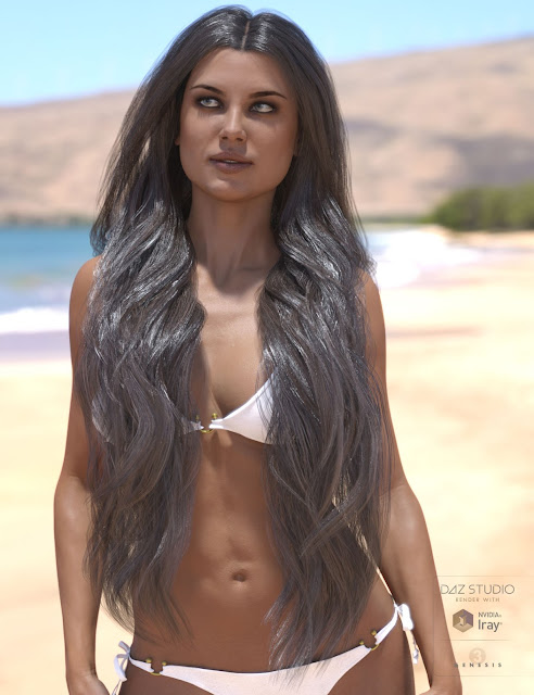 Olenna Hair for Genesis 3 Female