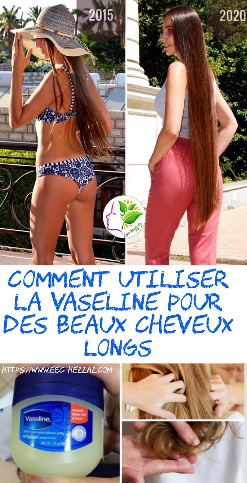 Comment utiliser la vaseline pour des beaux cheveux longs