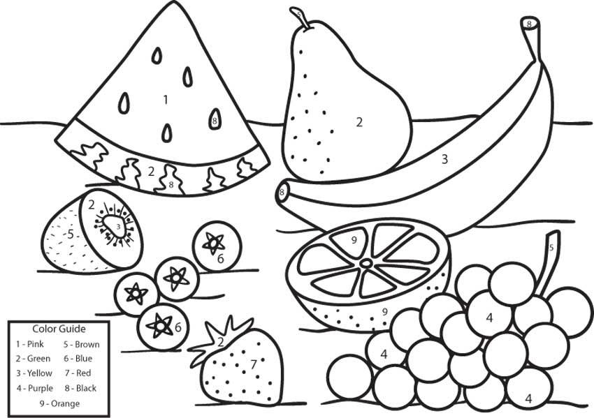 FUN & LEARN : Free worksheets for kid: ภาพระบายสี ผัก