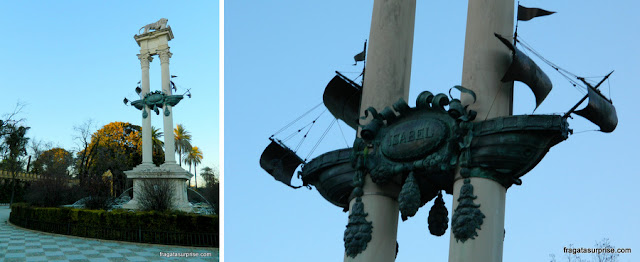 Monumento a Cristóvão Colombo no Paseo de catalina de Ribera, Sevilha