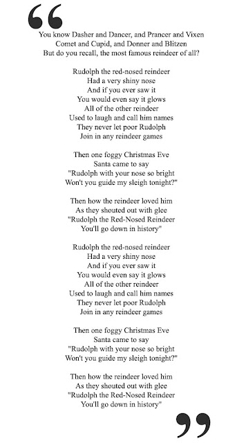 Rudolph The Red Nosed Reindeer Songs Lyrics