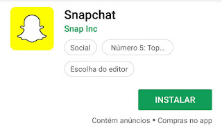 Como instalo o Snapchat