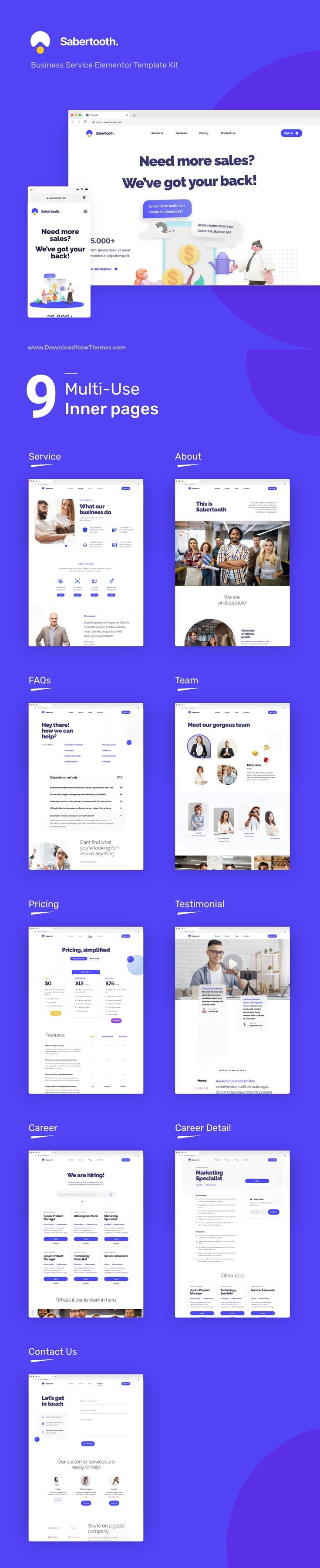 Business Service Elementor Template Kit