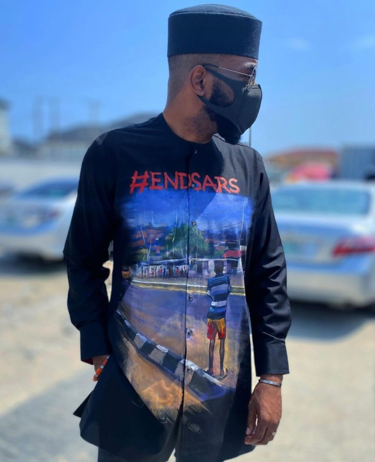 Wow! Check Out BBNaija Show Host, Ebuka's #EndSARS-Inspired Attire (Photo) #Arewapublisize