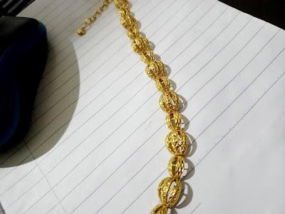 Emas Lama 916 Tetap Berkilat Jika Di Jaga Dengan Betul