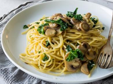 Mushroom And Garlic Spaghetti