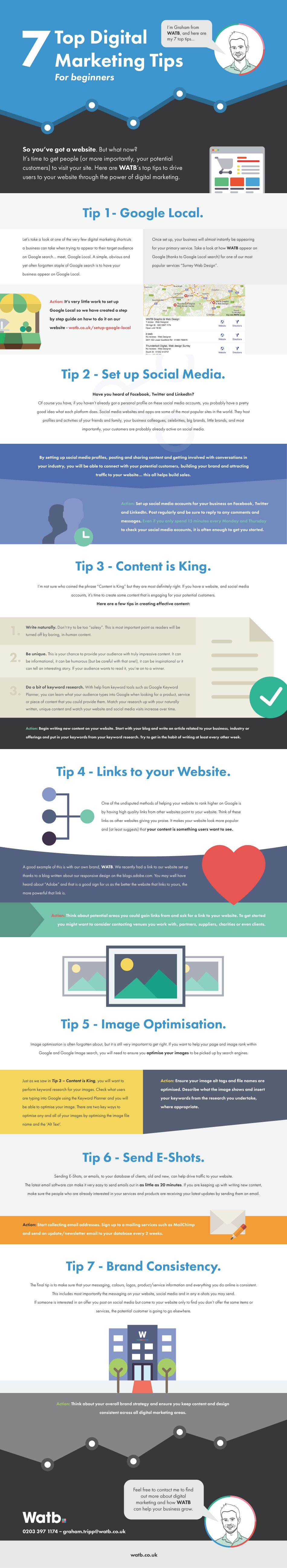 7 Top Digital Marketing Tips - #infographic