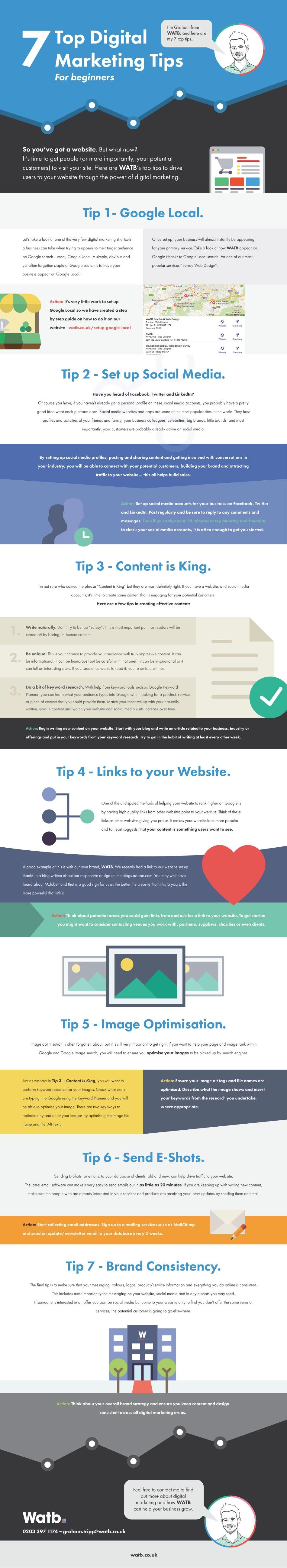 7 Top Digital Marketing Tips - #infographic
