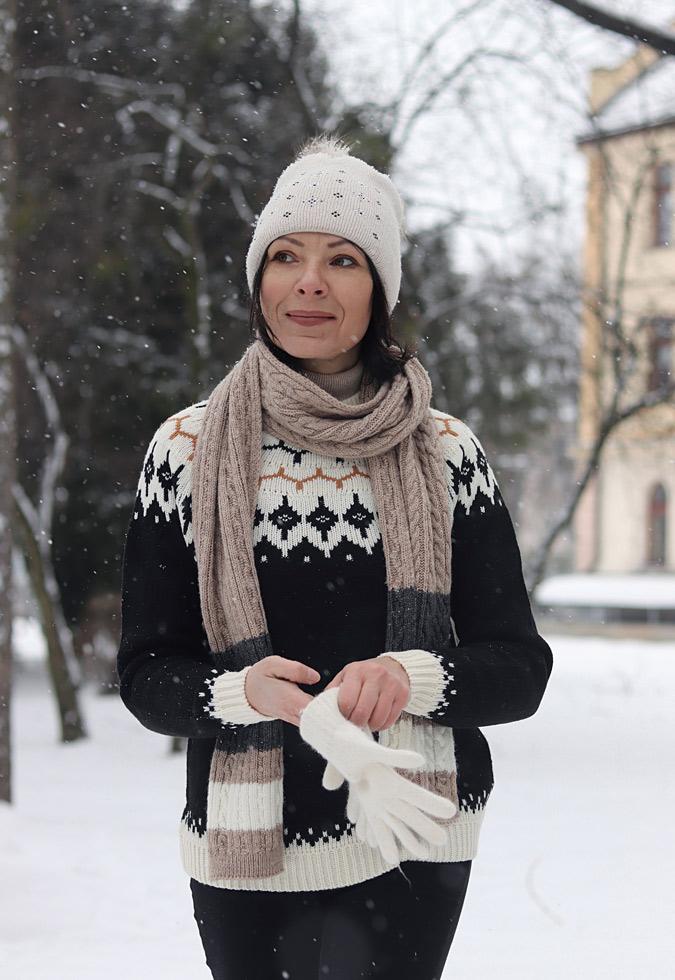 sweter skandynawski stylizacje damskie