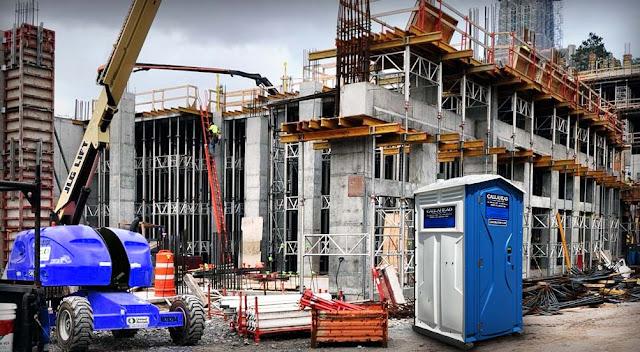 Portable Toilet on Construction Site
