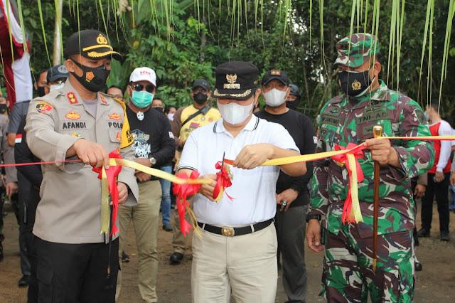 Peduli Situs Budaya, Kapolda Kalteng Resmikan Renovasi Makam Putri Mayang