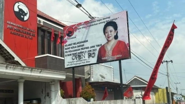 Coreng Kandidat Capres, Dalih PDIP Polisikan Coretan 'Open BO' di Baliho Puan?