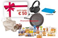 Logo Morato&Premiato: raccolta punti per Set cucina e Padella in ghisa e vinci card da 50€, cuffie Wireless e fotocamere Polaroid