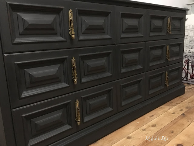 black painted drawers by lilyfield life