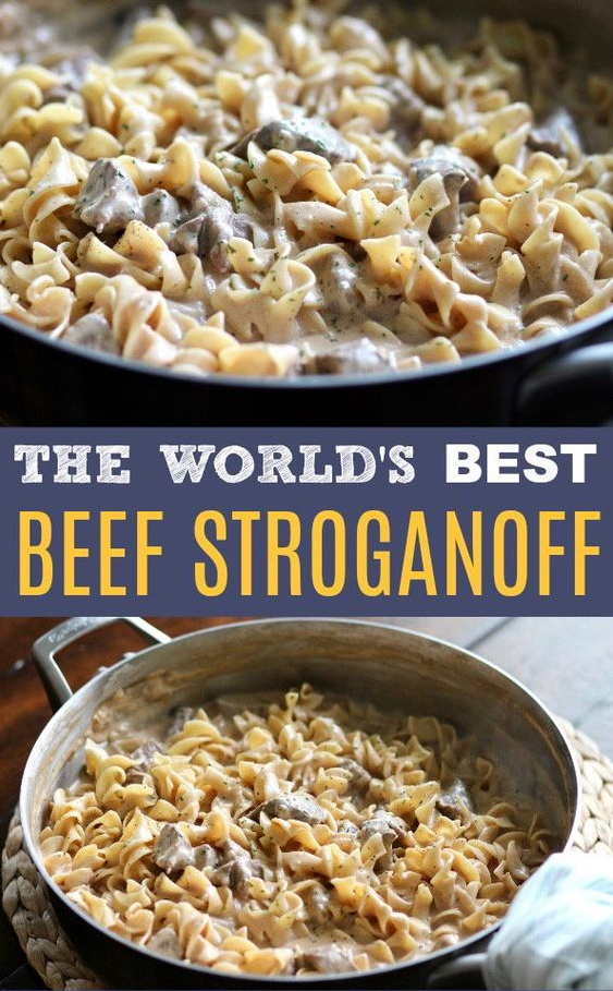 World's Best Beef Stroganoff