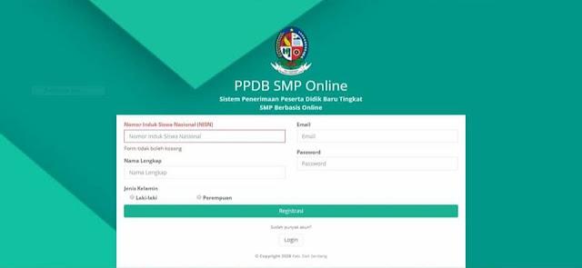 Daftar Online Di Sekolah Daring