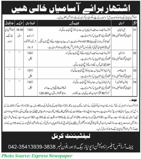 Pakistan Army Ammunition Depot Jobs 2021 Latest Junior Clerks, Fireman and Others