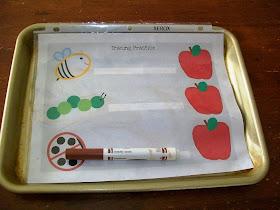 Apple prewriting practice