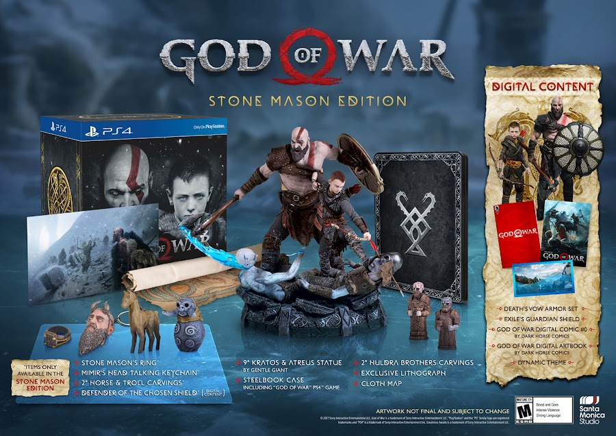 god of war ps4 stone mason edition