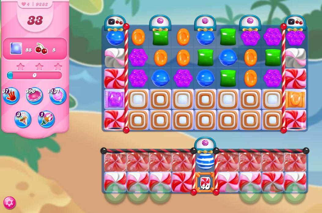 Candy Crush Saga level 9282